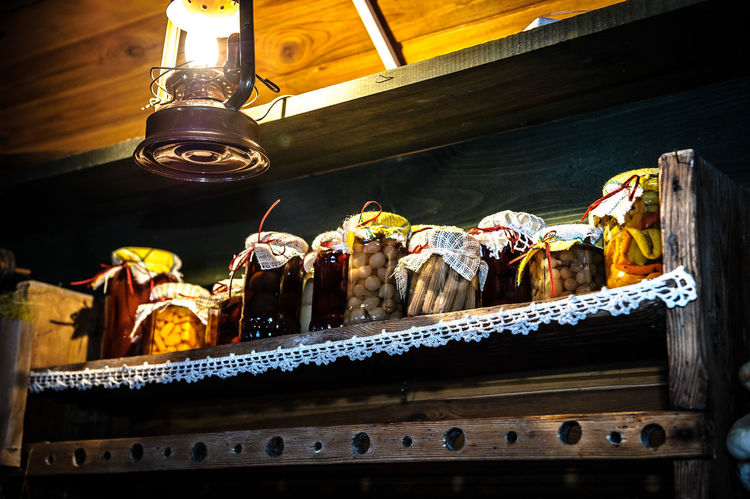 Natural Tradition Countryside Food Handmade Indoors  Jam Low Angle View Preppers Preserves Traditional Willage