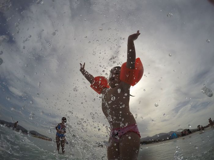 Water Vacations Splashing Fun Sea Wet Happiness Beach Gopro