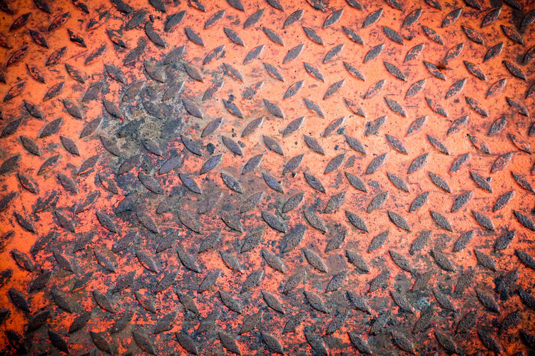 Rusty steel Backgrounds Full Frame Pattern Textured  No People Metal Abstract Day Roof High Angle View Sheet Metal Close-up Rusty Street Repetition Red Outdoors Orange Color Rough Old Roof Tile Textured Effect