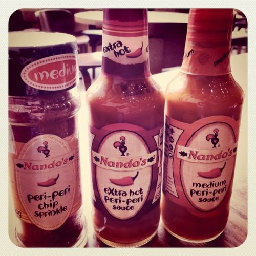 #HotSauce's for my parents :) They fall in love with #Nando's Hotsauce Nando