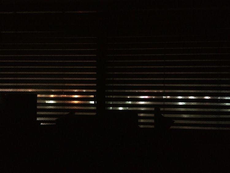 Windows Night Illuminated Pattern City MyRoom