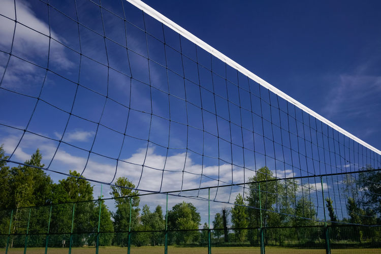 Volleyball net and playground Play Time Competition Game Net Net - Sports Equipment Outdoors Play Playground Playing Field Sky Tournament Volleyball Volleyball Net