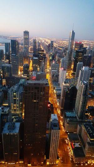 Sunrise Chicago Skyline Hancock