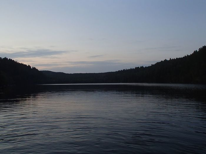 Coucher de soleil sur le Lac Jackson - Jackson Lake Sunset (Mauricie) Lake Water Sky Tranquil Scene Tranquility Beauty In Nature Scenics - Nature Nature Sunset Idyllic Outdoors Rippled