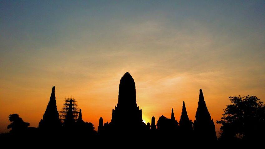 Wat Chai Watthanaram evening scene. Ayutthaya, Thailand. Ayutthaya | Thailand EyeEm Thailand Sunset_collection Relaxing The _ Mazzalong Enjoying Life Bangkok Thailand. Taking Photos Sunset Lovers