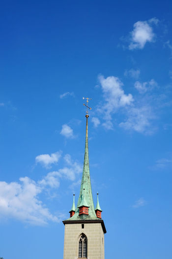 Bern Church Architecture Blue Built Structure Cloud - Sky Day No People Outdoors Sky Swiss Travel Destinations