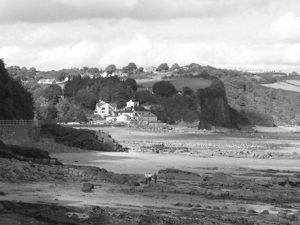 Wiseman's Bridge Pembrokeshire Beach Sky Nature Water Outdoors Rock - Object Scenics Beauty In Nature Sea Day Tree Cloud - Sky Coastline Tranquil Scene Sand Landscape Pembrokeshire Coast Walkers Rocks Rock Formation Cliff Mountain