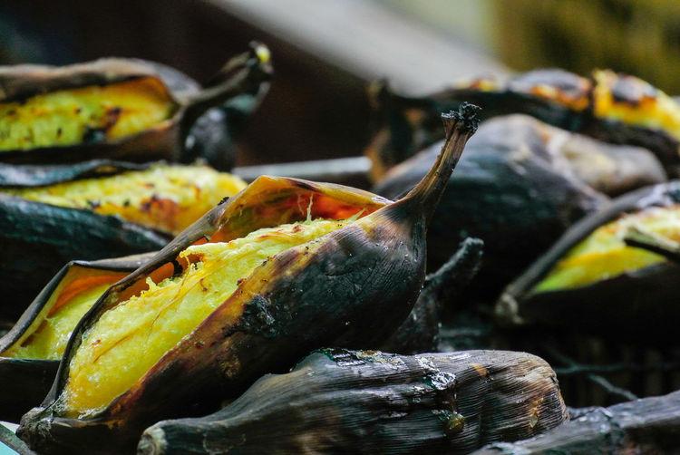 Bananas roast is thai street food.
