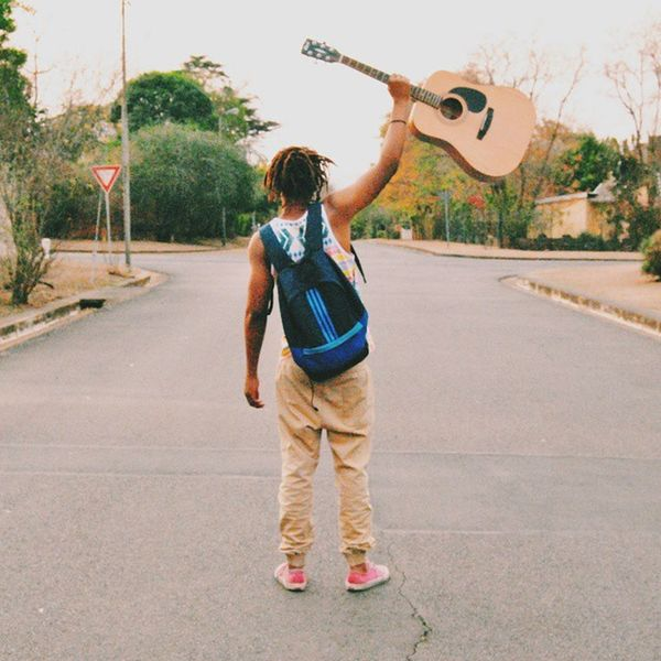 Let the music guide you. Me Scottsville Pietermaritzburg Guitar street love music guide quote igerssouthafrica vscophile vscocam vscogood instagood passion dream dreads liveauthentic seekfindexplore hot_shotz igmasters colour man africa thesouthafricans adidas green 240914
