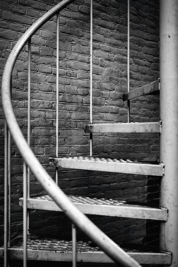 Stairway Blackandwhite Metal Architecture Protection Safe Safety Stairs Stairway Built Structure Close-up Art Landscape_Collection Nikonphotography Close Up EyeEm Gallery Steps And Staircases Steps Eye4photography  EyeEm Best Shots Black And White Nikon Nikond750 No People Firestairs Netherlands