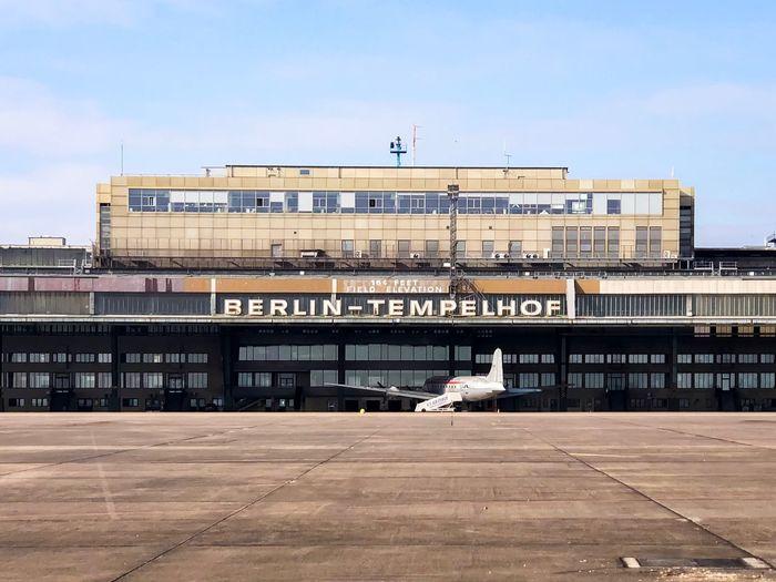 Tempelhof Tempelhofer Feld Abandoned Airport Berlin Architecture Built Structure Building Exterior Day Sky Outdoors City