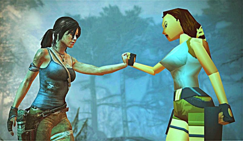 Tombraider Tomb raider game play station Playstation 4 comparison