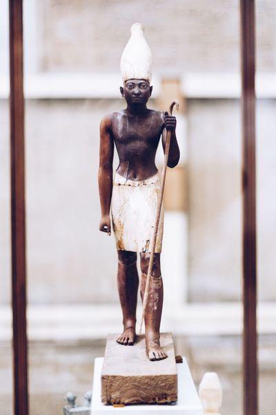 Historical Historic History Face Old HEAD Egyptian Museum Pharaohs Pharahos Statue Pharaoh Statue Human Representation Egyptian Egypt King Body Hand Wooden Wood Small