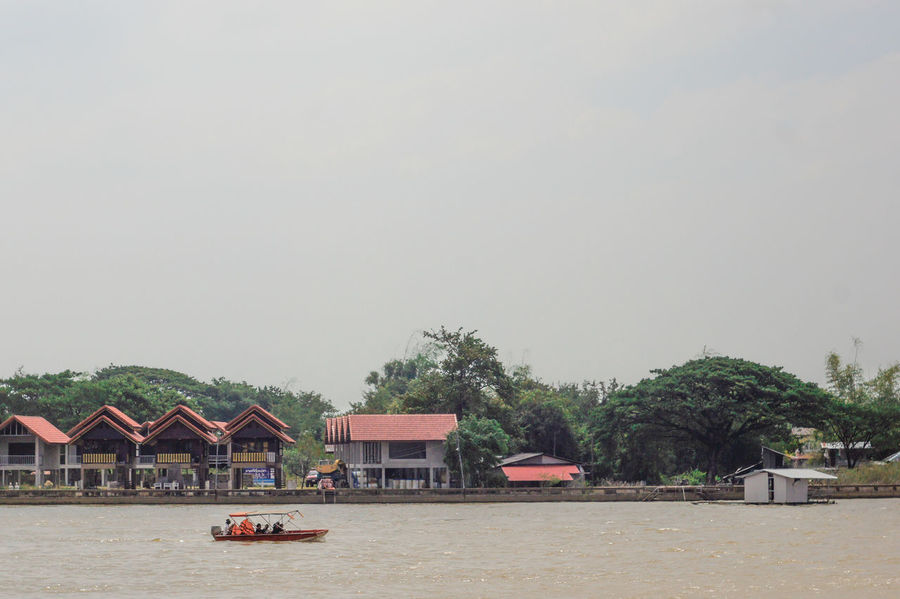 Ubon Thailand River Sky Nature Day Water People