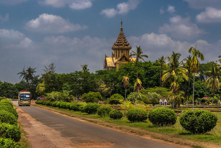 Kanbawzathadi Palace at Bago, Myanmar Amazing Ancient Archaeological Architecture ASIA Bago Building Culture Famous Gold Grand Heritage History Kanbawzathadi Golden Palace King Landscape Majestic Myanmar Place Popular Sacred Style Tourism Traditional Travel