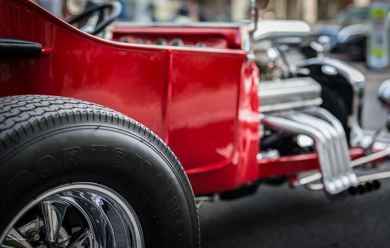 Close-Up Of Racing Car Wheel