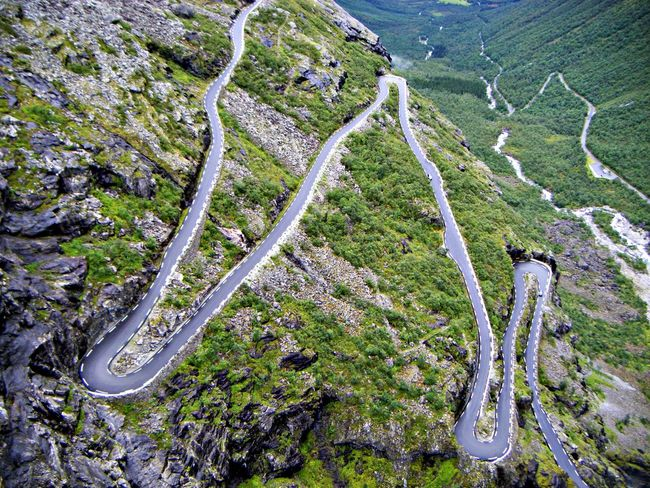 Beauty In Nature Day High Angle View Hiking Landscape Landscape_photography Nature No People Norway Outdoors Roads Roadsidephotography Roadtrip Scenics Tranquility Travel Destinations Trollstigen Trollstigen Norway Vacations Western Norway Winding Road