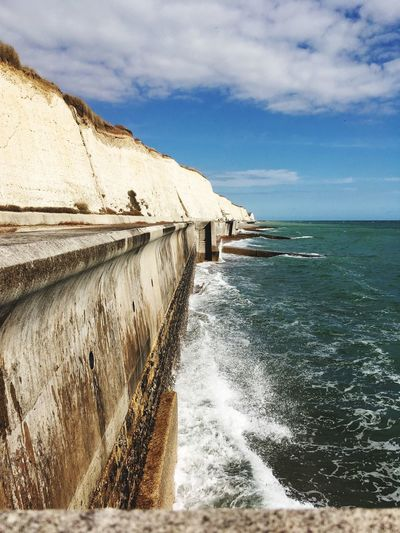 O I do like to be beside the seaside Sea And Sky Perspective Chalky Cliffs White Cliffs  Cliffs Water Sky Sea Cloud - Sky Beach Nature Scenics - Nature Beauty In Nature Outdoors
