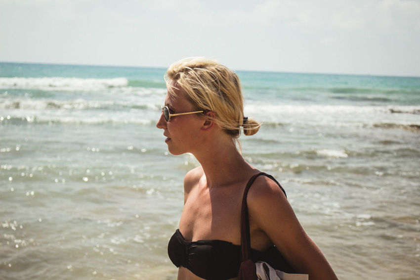 Beach Beautiful Blond Hair Close-up EyeEmNewHere Girl Headshot Horizon Over Water Italy Leisure Activity Lifestyles People Portrait Sea Summer Sunglasses The Week Of Eyeem The Weekend On EyeEm Travel Travel Destinations Traveling Vacations Vacations Water Young Women