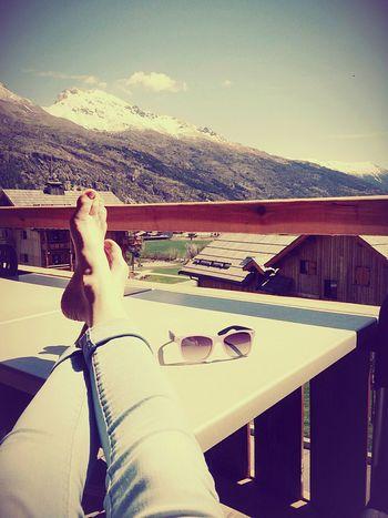 France Alpes Serre Chevalier  Sun Holiday Mountains Wood Sunglasses Legs Travel