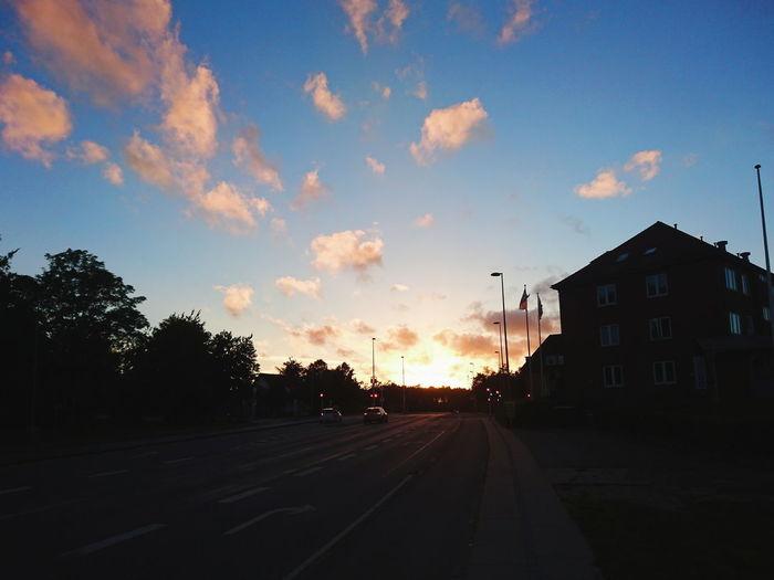 Cloud - Sky Road Sky Street Sunset Outdoors City Evening Tree No People VSCO Silhouette