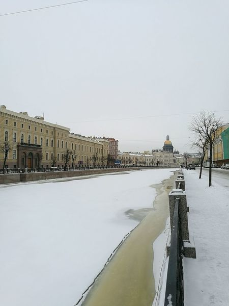 Snow Winter Travel Destinations Nature Outdoors Water Sky Winter View Heart Of The City History Architecture St.petersburg St.Petersburg Russla City Street Russia Reflection River Moyka River Cold Temperature Travel Heart Of St.Peterburg Citylights Winter Shot Walking EyeEmNewHere EyeEm Selects