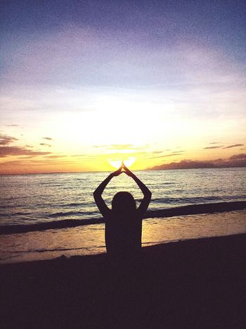 Water Sea Sunset Beach Flexibility Exercising Sand Silhouette Healthy Lifestyle Men Yoga Posture Handstand