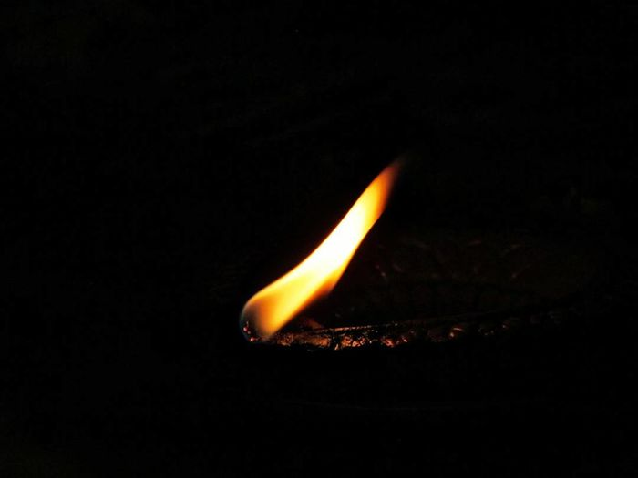 Flame Burning Heat - Temperature Black Background Single Object Night Illuminated Close-up Minimimal Minimialistic Minimal_perfection Minimalism Night Lights Nightphotography Lights In The Dark