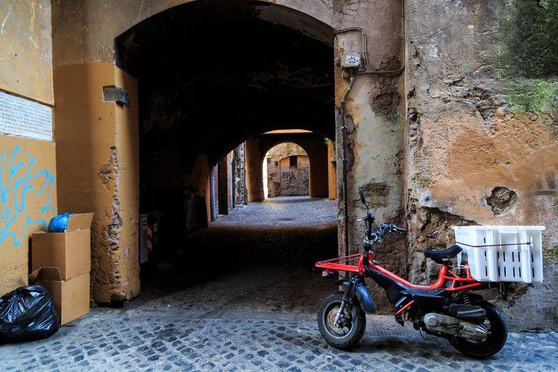 Bicycles in corridor