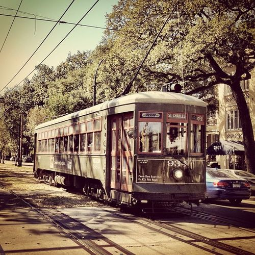 St Charles streetcar, New Orleans. #iphoneography #jomo #neworleans #streetcar IPhoneography Streetcar Jomo Neworleans