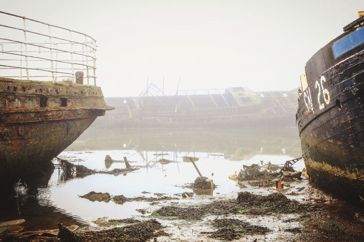 Water Winter Outdoors No People Ship Shipwreck Wreck Low Tide