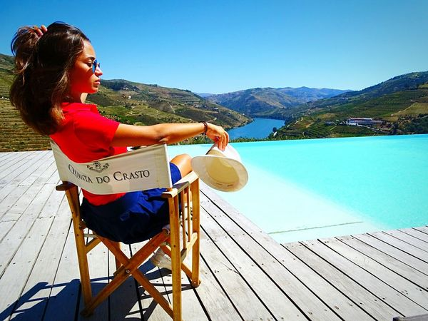 Winery Douro clear sky model Outdoors Women One Young Woman Only Water Nature Mountain View Wine Tasting EyeEmNewHere Portugal Is Beautiful
