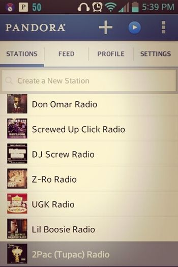All My Pandora Stations