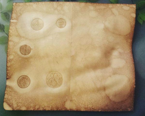 DIY Old Looking Paper Artcraft Scrapbooking Journalling Coffe Dryed