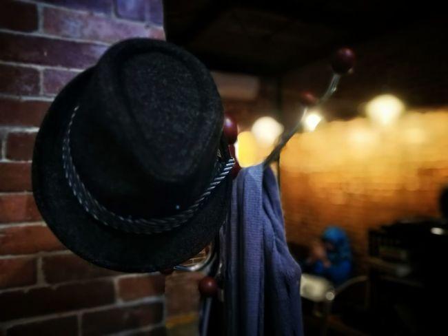 The hat on the rack Hat Coathanger Coat Hook Bar Scene