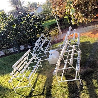 My new hydroponic system, Firstattempt Hydroponics Planting Harvest kitchengarden