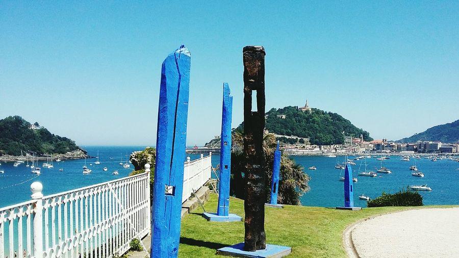 City Spain San Sebastian, very beautiful, sculture, island, water, Green Travel Destinations