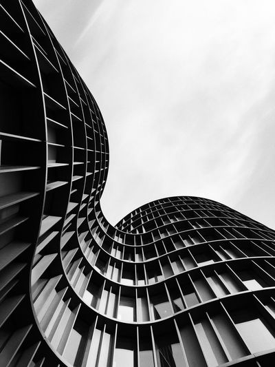 Axel Tower in black and white Denmark Copenhagen Minimal Architecture Built Structure Low Angle View Sky No People Building Exterior Day Outdoors The Architect - 2018 EyeEm Awards