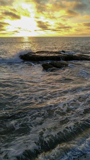 Ocean Beach San Diego Sunset Beach Beauty In Nature Cloud - Sky Horizon Horizon Over Water Idyllic Land Motion Nature No People Outdoors Scenics - Nature Sea Sky Sunset Tranquil Scene Tranquility Water Waterfront Wave