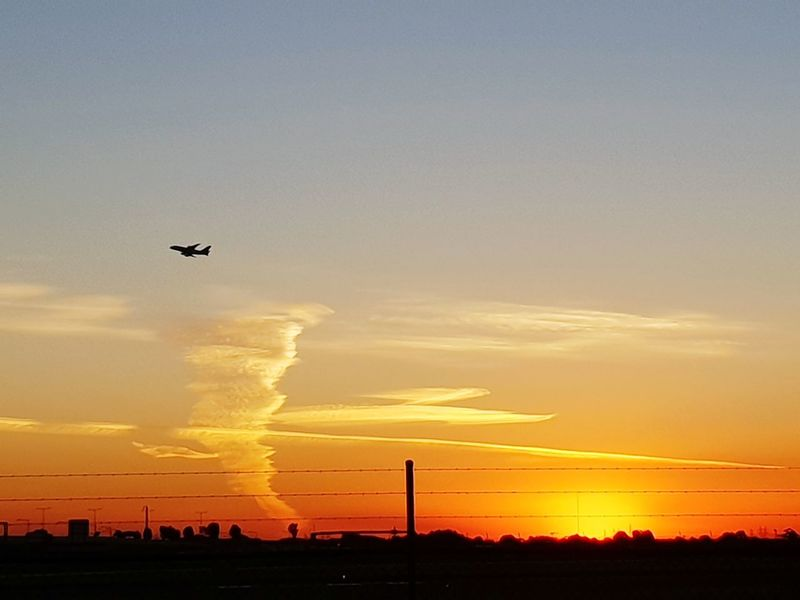Flying Environment Technology Oil Pump Sky Landscape