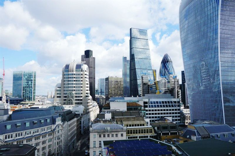 20 Fenchurch Against Modern Buildings In City