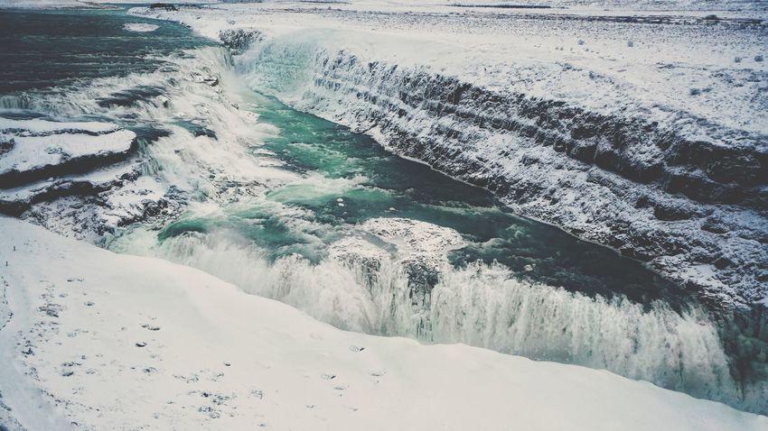 Iceland Gulfoss Gulfoss Waterfall Beauty In Nature Nature Cold Temperature Waterfall