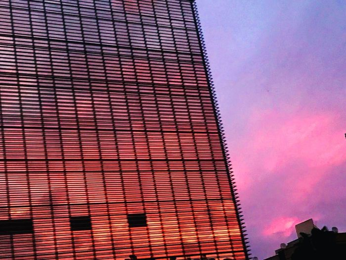 Pembe bir Mersin'e günaydın.. Mersin Built Structure Architecture Building Exterior Low Angle View Sky Building No People Nature City Pattern Modern Cloud - Sky Outdoors Tall - High Office Building Exterior Sunset Day Red Pink Color Dusk Holiday Moments EyeEmNewHere