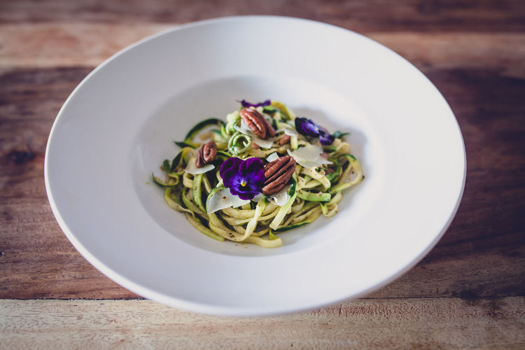 zoodles...zucchini noodles Keto Nuts Pecan Zucchini Cheese Close-up Courgette Day Flower Food Food And Drink Freshness Healthy Eating Indoors  Lowcarb No People Parmesan Ready-to-eat Vegetable Zoodles