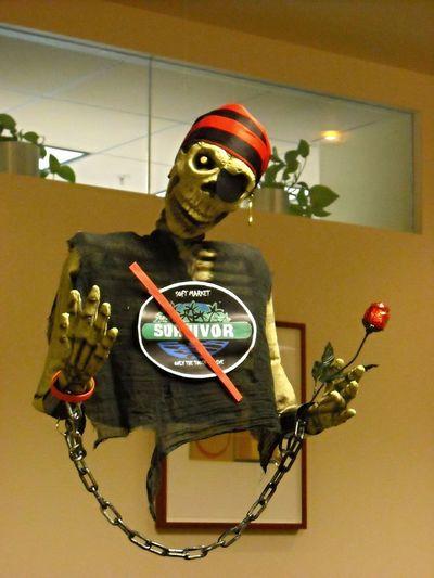Pirates Hallowween Pumpkin Skeletons