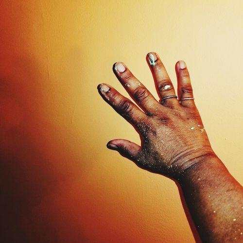 scatter the paint splash Florida Mango Color Home Improvement Paint Studio Shot Palm Yellow Close-up Fingernail