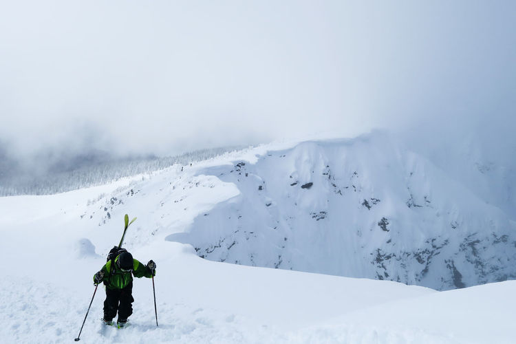 Shades Of Winter Backcountry Skiing Climbing Cold Temperature Deep Snow Landscape Mount Mackenzie Mountain Nature Off Piste Offpiste One Man Only Outdoors Scenics Ski Snow Sport To The Top Vacations White Color Winter Lost In The Landscape Second Acts Go Higher