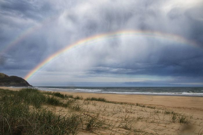 Double Rainbows after the storm Rainbow Scenics Nature Beauty In Nature Sea Tranquil Scene Water Double Rainbow Horizon Over Water Cloud - Sky Beach Sky Day Outdoors No People Tranquility Idyllic