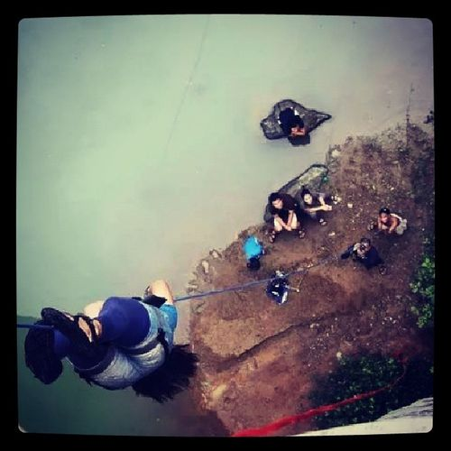 I miss doing this kind of activity... :( Rappeling Lizardstyle Angasmoment WalangBasaganNgTrip
