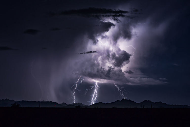 A powerful thunderstorm illuminated by lightning Background Beauty In Nature Cloud - Sky Cumulonimbus Dramatic Sky Electricity  Extreme Weather Forked Lightning Illuminated Light And Shadow Lightning Monsoon Nature Night Power In Nature Rain Sky Storm Storm Cloud Stormy Thunderstorm Weather
